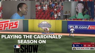 Baseball's on hold, so we're playing the Cardinals schedule on MLB 20 The Show