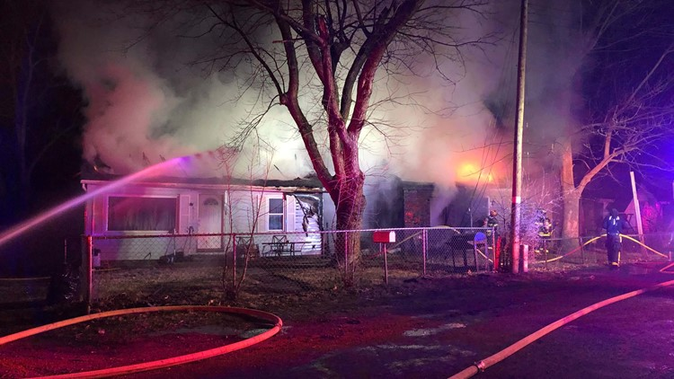 Fire at vacant home in Collinsville, Illinois.