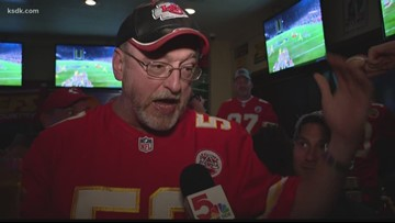 Fans gathered in Webster Groves to root on the Chiefs