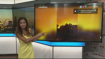 Sky, timelines turn orange with weather pictures