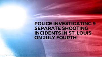 1 dead, 12 injured in shootings on the Fourth of July in St. Louis