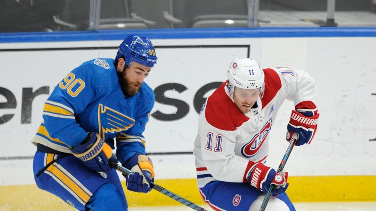 Canadiens use big 2nd period to beat slumping Blues 5-2