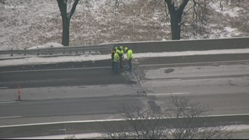 Two NB lanes of I-55 at Bates closed for emergency repair