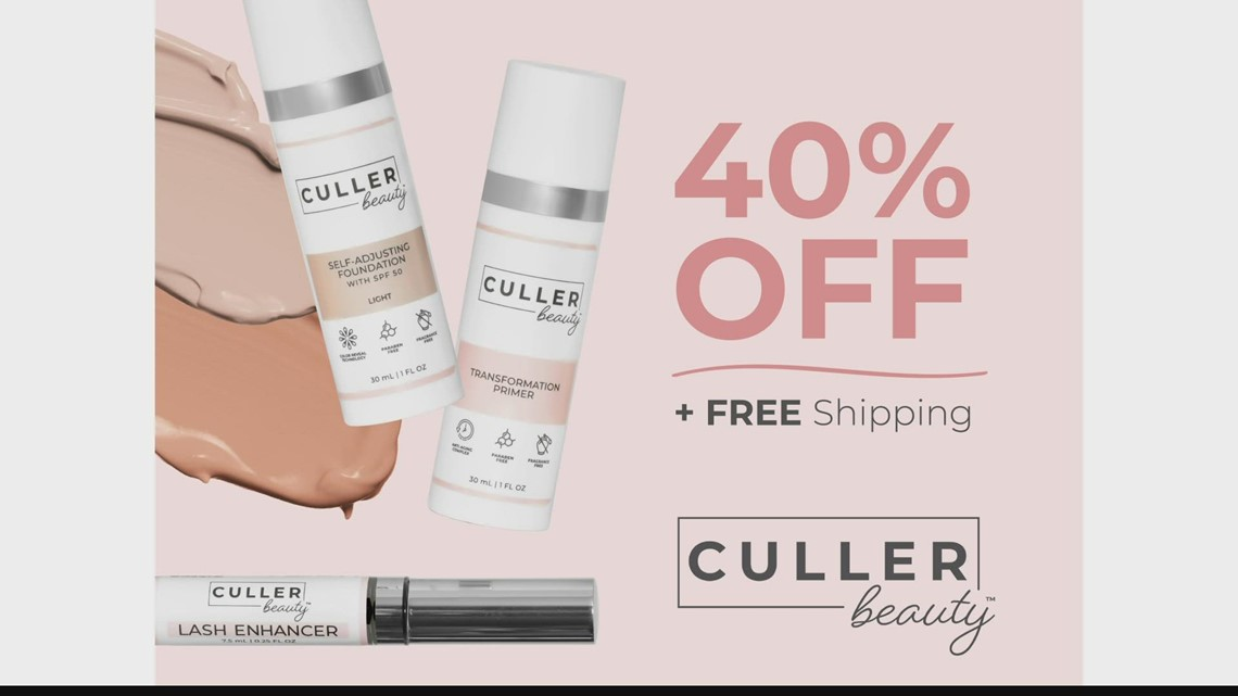 Culler Beauty offering 40% off and free shipping