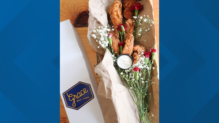 Grace Meat + Three has fried chicken bouquets for Valentine's Day