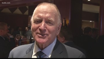 Blues great Red Berenson chats with Frank Cusumano