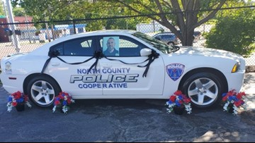 North County Police Cooperative sets up memorial for Officer Michael Langsdorf