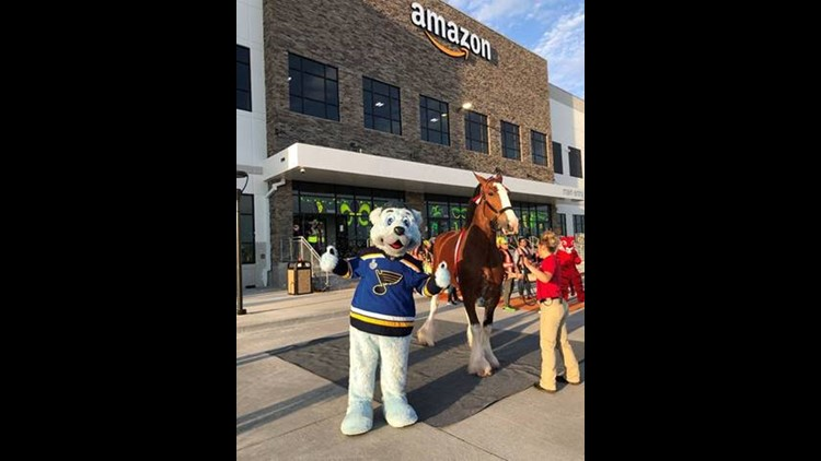 Amazon center officially opened with Louie and Budweiser Clydesdale