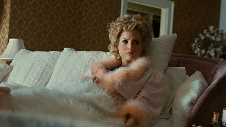 Jessica Chastain's bravura performance helps middling 'Eyes of Tammy Faye' overcome problematic script