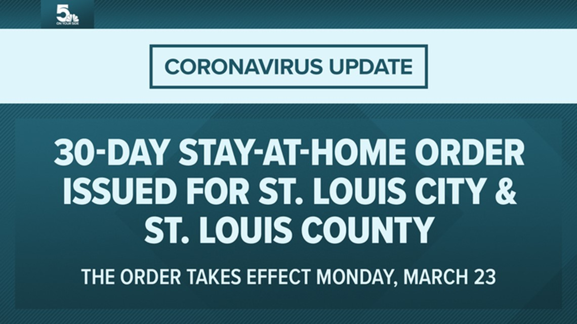 Coronavirus Stay At Home St Louis City 30 Day Order Ksdk Com