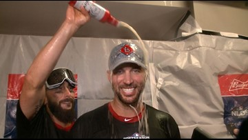 Watch: Inside the Cardinals' locker room after Game 5 win in NLDS