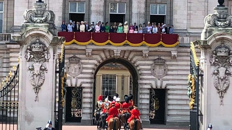 Royal family balcony Trooping the Colour