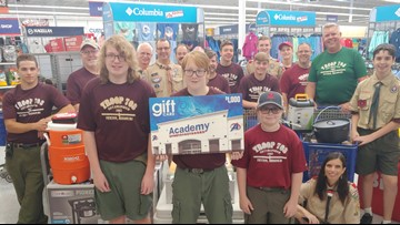 Business surprises Boy Scouts whose trailer, camping gear were stolen