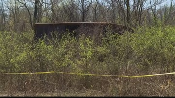 Burned body found inside box trailer in south St. Louis County