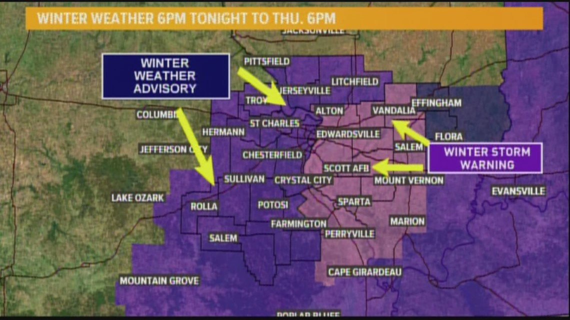 Ksdk Weather Map.Wednesday Am Web Weather Forecast 11 14 18 Ksdk Com