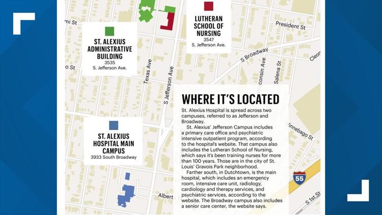 st. alexius hospital map