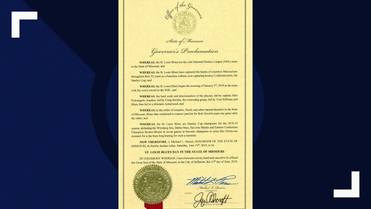 June 15 is St. Louis Blues Day