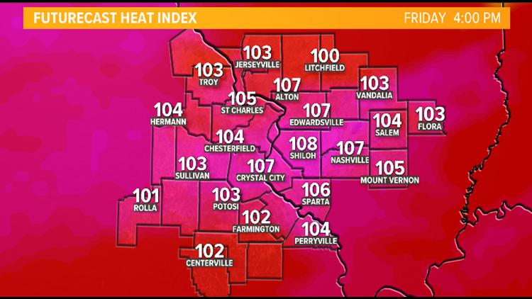 Heat advisory in effect for dangerously hot weather in St. Louis