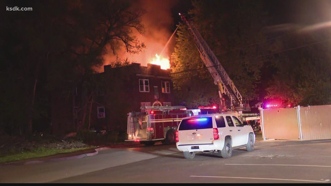 Fire at apartment building in East St. Louis