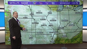 Wednesday, Jan 16 PM weather