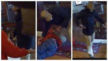 'Get out of here!' Video shows 79-year-old man robbed, attacked in his home