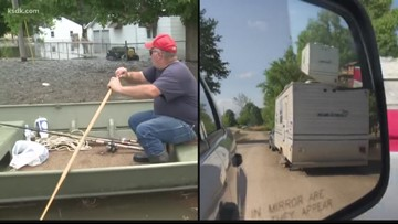 'The river has left a big ugly mess behind' | Winfield starts cleanup as flood waters go down