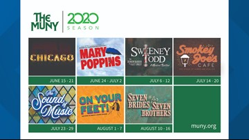 'The Sound of Music' and 'Mary Poppins' headline The Muny's 2020 season
