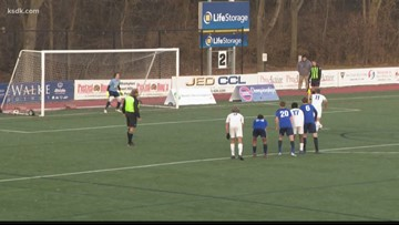 Soccer state semifinals: Priory v. John Burroughs