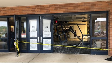 Francis Howell Central High School closed after student drives car through front doors