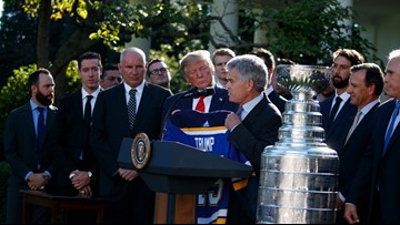 Blues visit Trump at White House as full team
