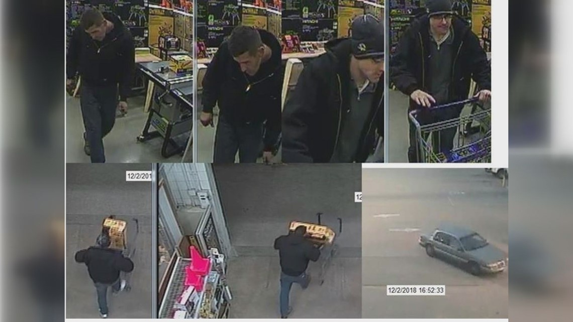 Photos: Police looking for tool thieves