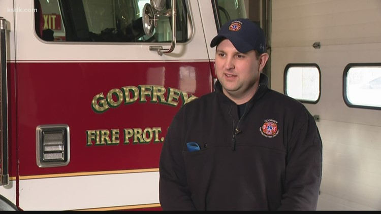 Godfrey firefighter returns to work after being injured in fire last year