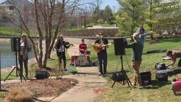 Band puts on concert outside senior living facility in Creve Coeur