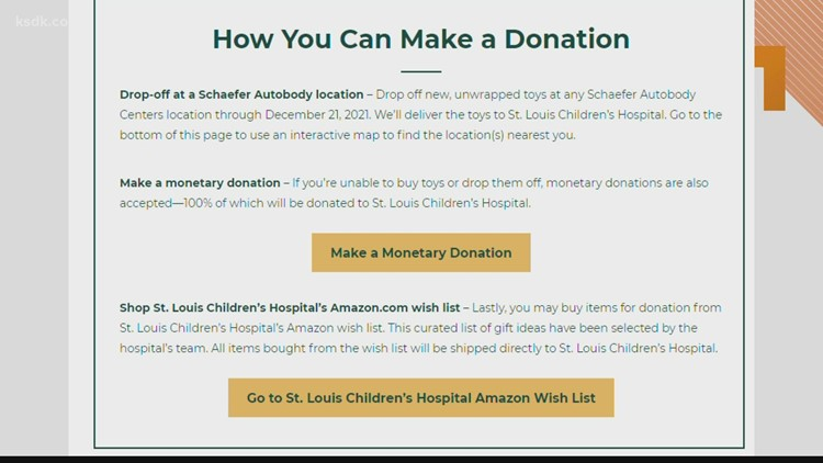 Schaefer Autobody Centers supports St. Louis Children's Hospital for the holiday season