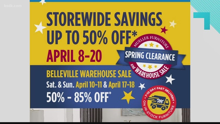 It is time for Mueller Furniture's Spring Clearance and Warehouse Sale!
