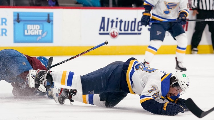 NHL suspends Avalanche's Kadri 8 games for hit to Blues' Faulk in Game 2