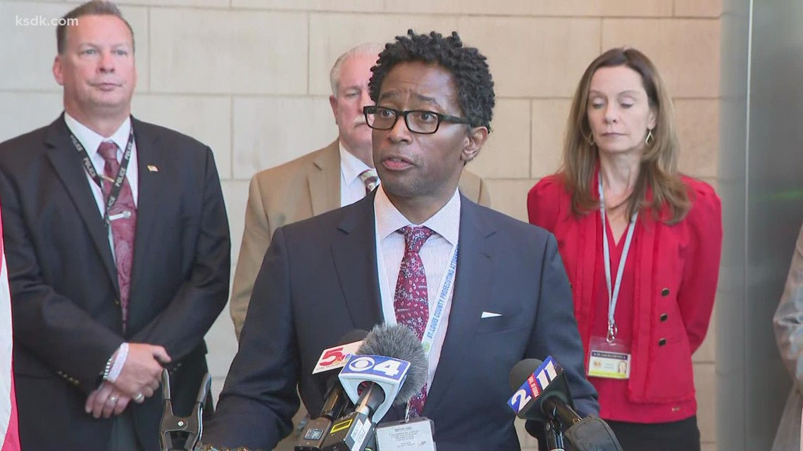 St. Louis County Prosecutor Bell speaks after man pleads guilty in deadly Catholic Supply store attack