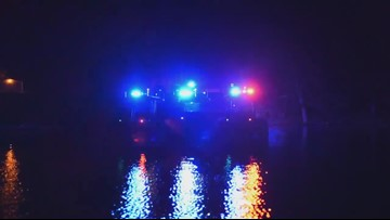 MSHP boats put on a light show to the national anthem