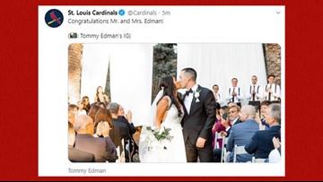 Cardinals' Tommy Edman gets married after postseason baseball postponed original plans