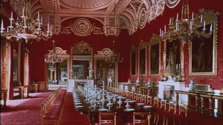 A state room at Buckingham Palace