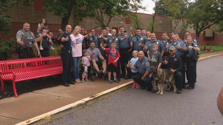 Police help boy with first-day surprise