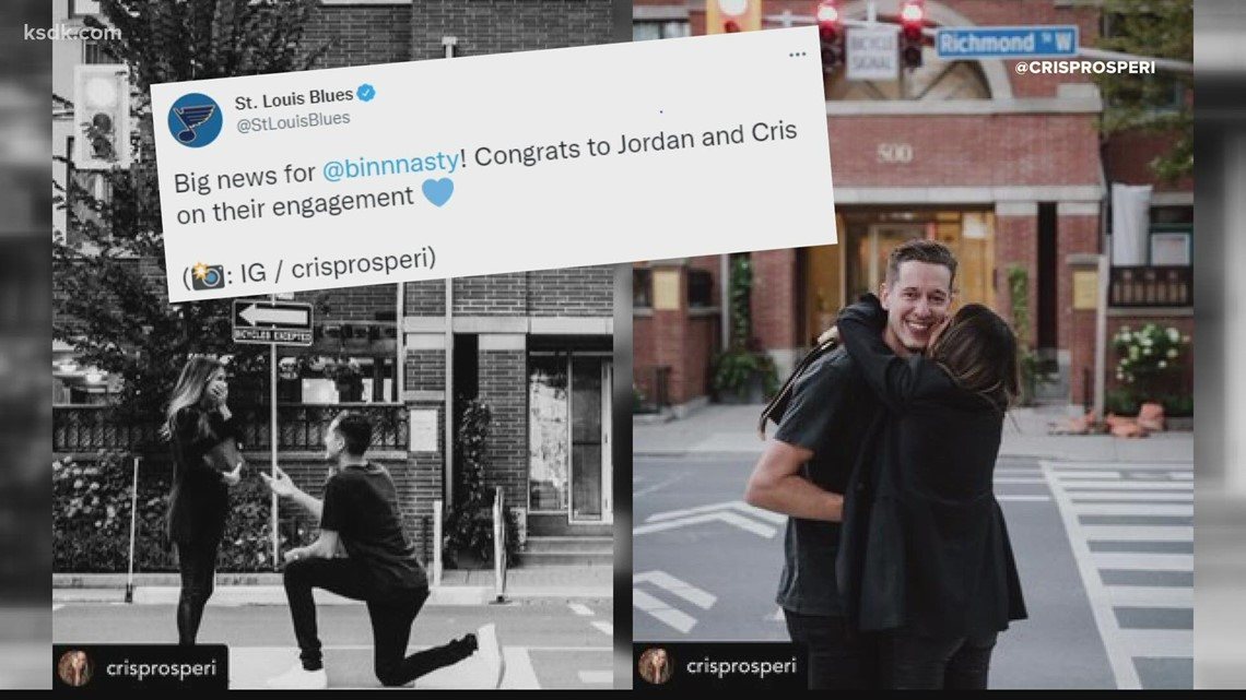 Blues goalie Jordan Binnington gets engaged