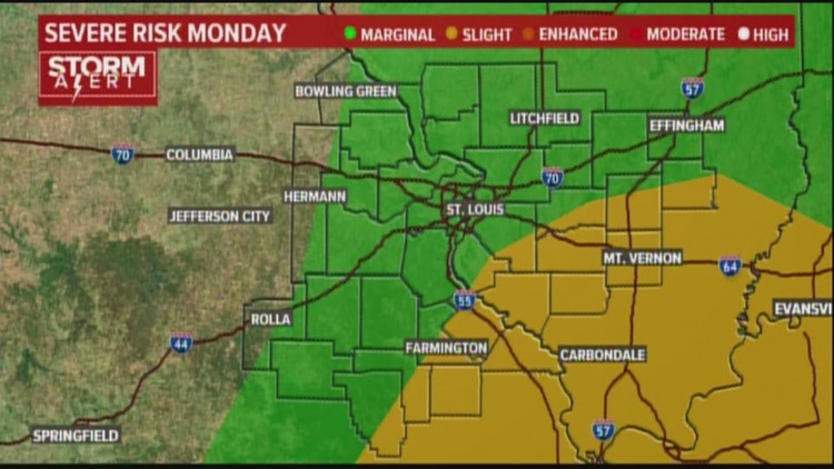 Ksdk Weather Map.Monday Weather Forecast 4am Ksdk Com