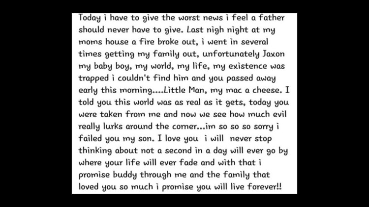 Good bye letter to Jaxon