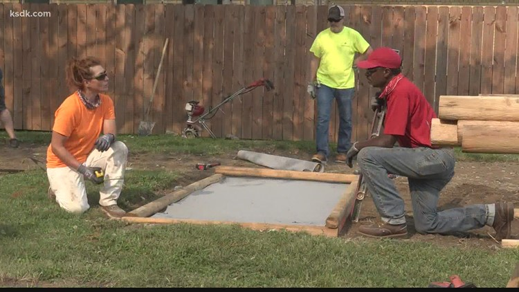 Project 5: Volunteers build therapy garden for charity who treats children with trauma