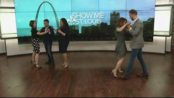 Arthur Murray Dance shows hosts of Show Me St. Louis some moves