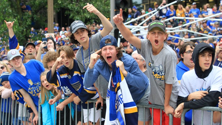 Photos: Blues fans at the Stanley Cup Championship Parade