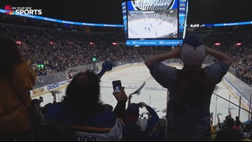 Blues fans at Enterprise Center go crazy with Game 5 shutout win