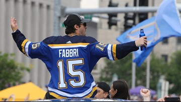 Robby Fabbri shares story of losing tooth in championship parade