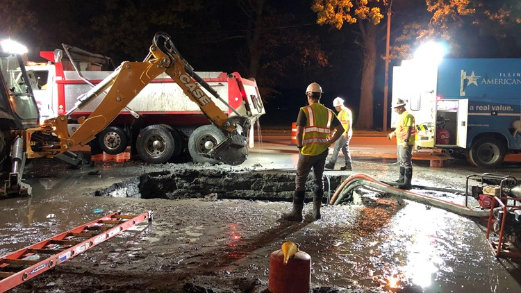 granite city water main break